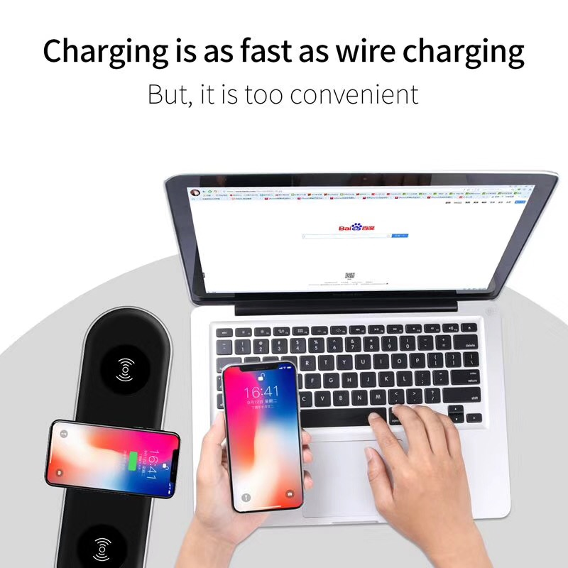Qi Wireless Charger for iPhone X 8 8 Plus Portable Wireless fast Charging