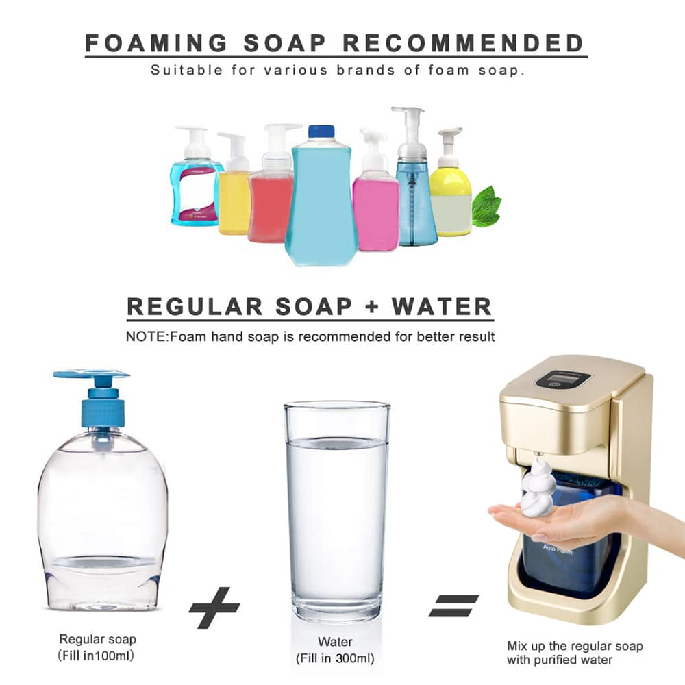 Infrared Motion Sensor Hands-Free Soap Pump Dispenser
